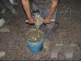 防水涂料现场搅拌施工