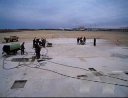 北京机场跑道路面修补工程